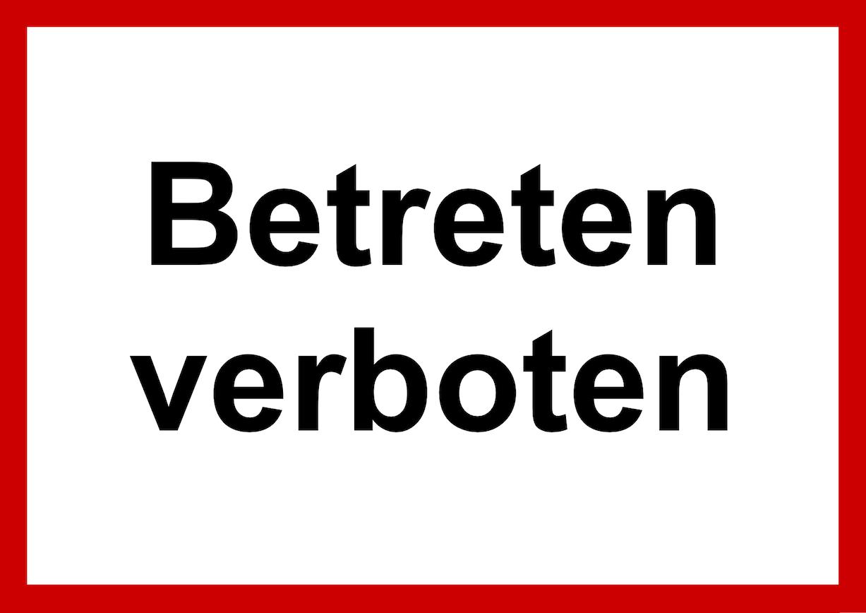 Betreten verboten V1