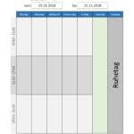Waschplan Vorlage – Kalender zum Ausdrucken