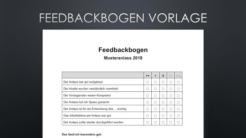 Evaluationsbogen Muster