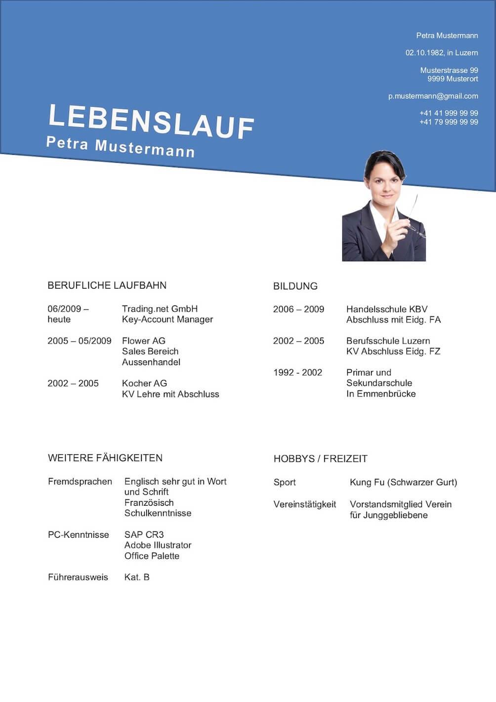Lebenslauf Vorlage (Klassisch & modern) | 11 kostenlose ...