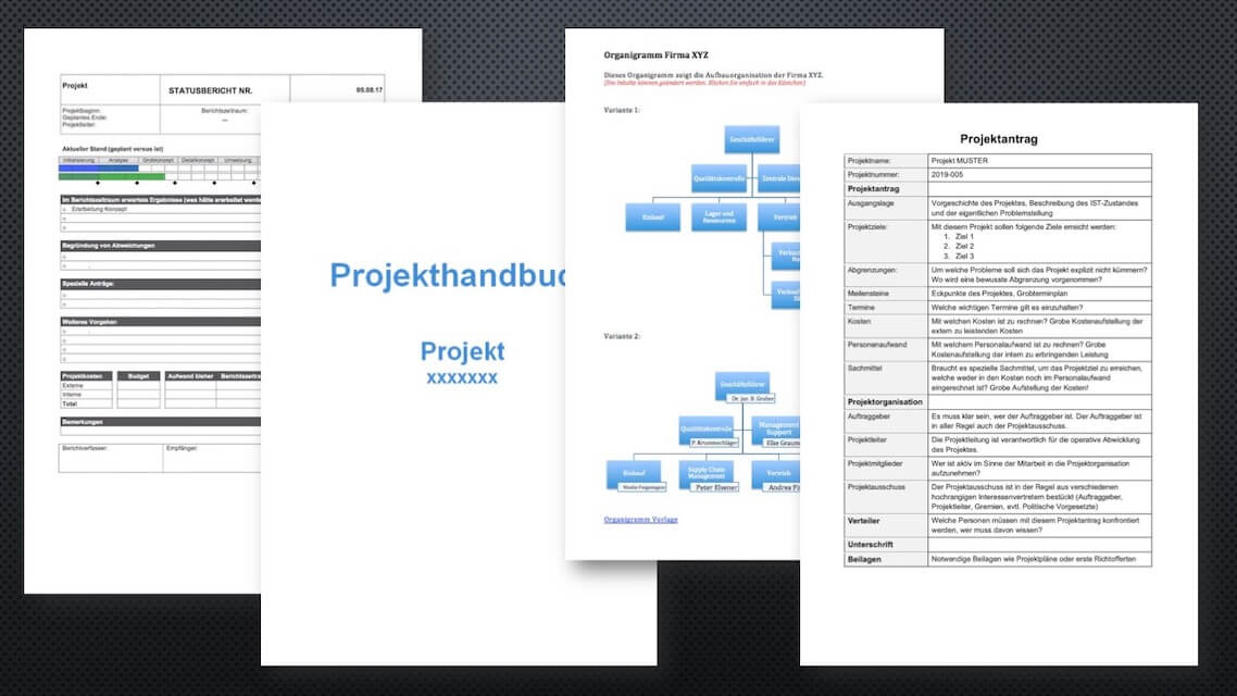 Projektmanagement Vorlagen