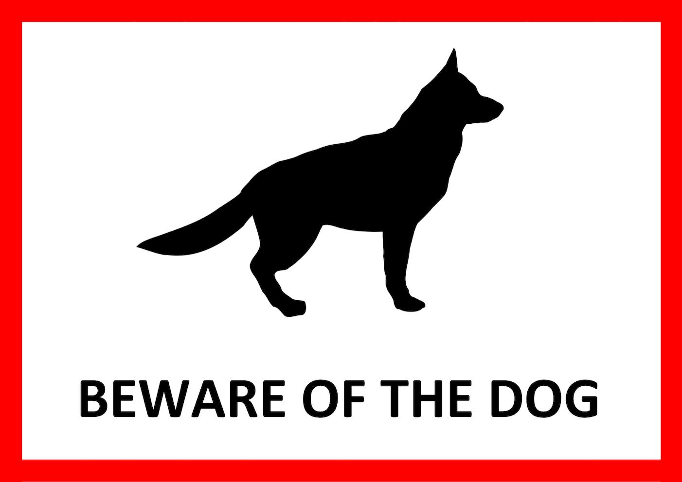 Warnschild Vorlage 4