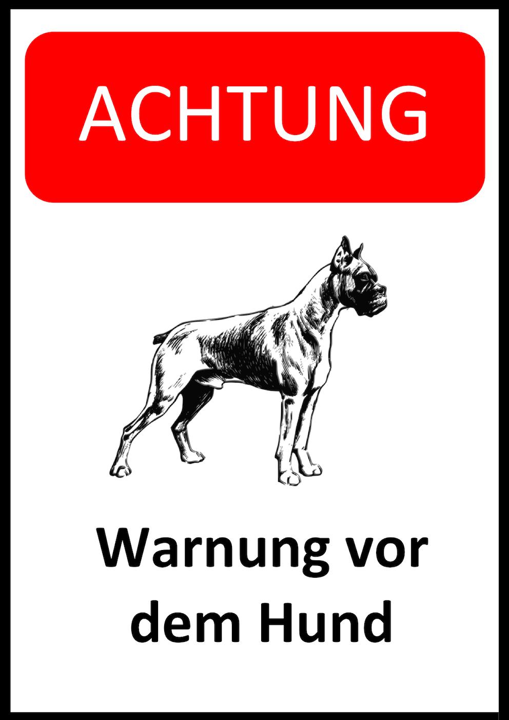 Hunde Warnschild Version 4