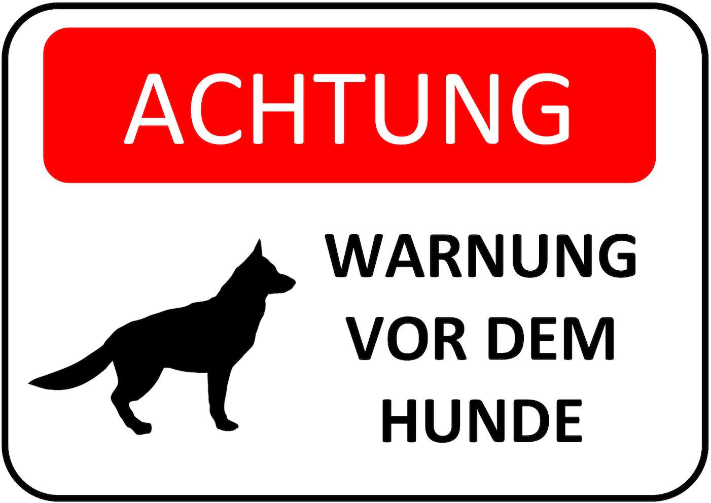 Warnschild Hunde Version 5