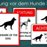 Warnung vor dem Hunde Schild – zum Ausdrucken (PDF & Word)