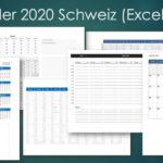 Kalender 2020 Schweiz (Excel & PDF)