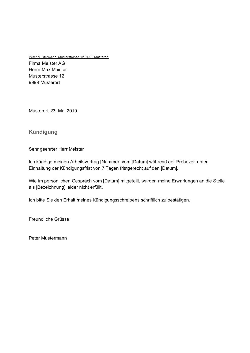 Fristlose Kundigung Durch Arbeitgeber Schweiz