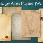 Altes Papier Vorlage