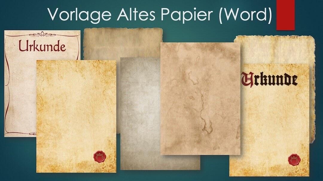 Vorlagen für altes Papier im Word-Format