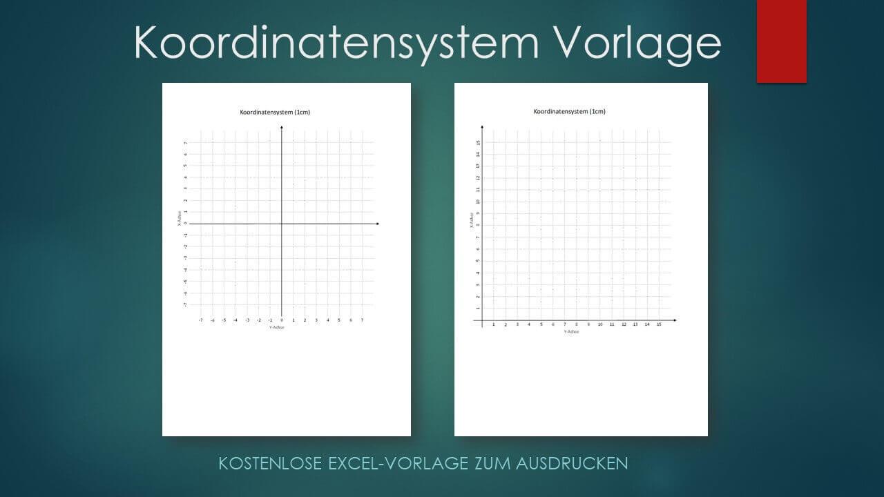 Koordinatensystem Vorlage