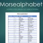 Morsealphabet PDF-Vorlage