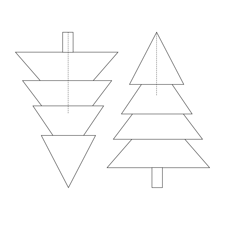 Tannenbaum Vorlage zum Ausdrucken (PDF & Word)  Muster-Vorlage.ch