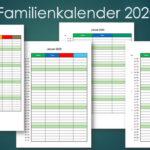 Familienkalender 2020 – Familienplaner (Excel)