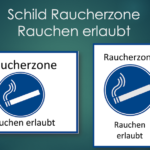Raucherzone Schild zum Ausdrucken (Word & PDF)