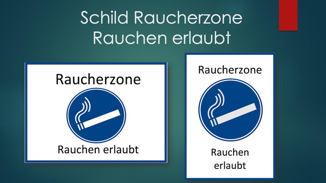 Header Rauchen erlaubt - Raucherzone Schild