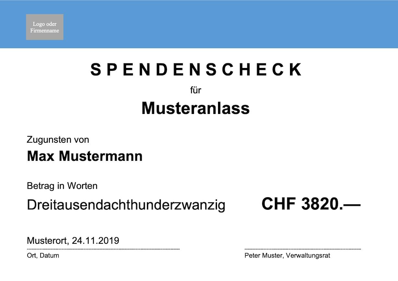 Scheck Vorlage (Word)