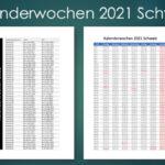 Kalenderwochen 2021