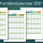 Familienkalender 2021 – Familienplaner