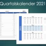 Quartalskalender 2021 Schweiz