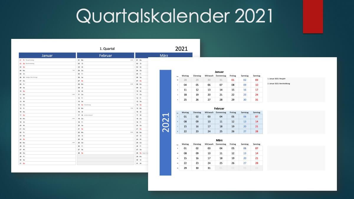Quartalskalender 2021 Schweiz - zum Ausdrucken | Muster ...