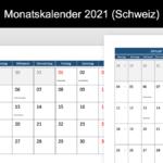 Monatskalender 2021