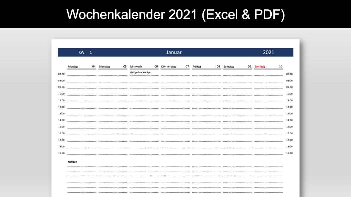 Wochenkalender 2021 Schweiz Header