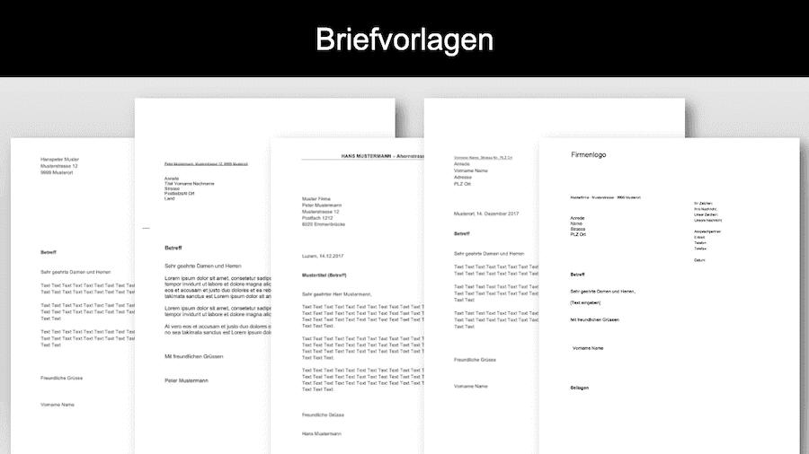 Briefvorlage Schweiz Word Header