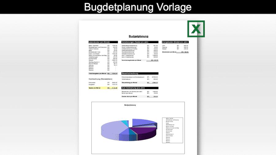 Budgetplanung Vorlage