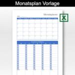 Monatsplan Vorlage