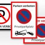 Parken verboten Schild zum Ausdrucken