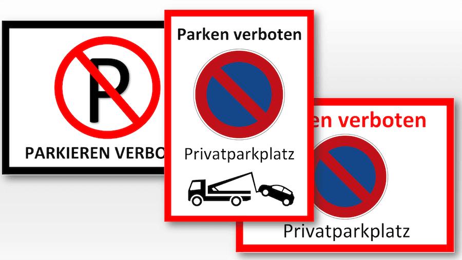 Parkverbot Schild zum Ausdrucken