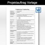 Projektauftrag Vorlage (Word-Format)
