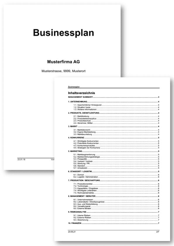 Businessplan Vorlage kostenlos downloaden (Word-Format)