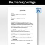 Kaufvertrag Vorlage Schweiz