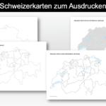 Schweizerkarte zum Ausdrucken
