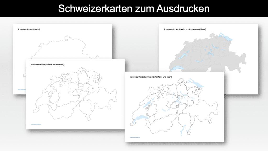 Schweizerkarte ausdrucken Header