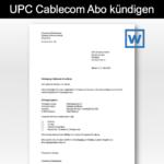 UPC Kündigung