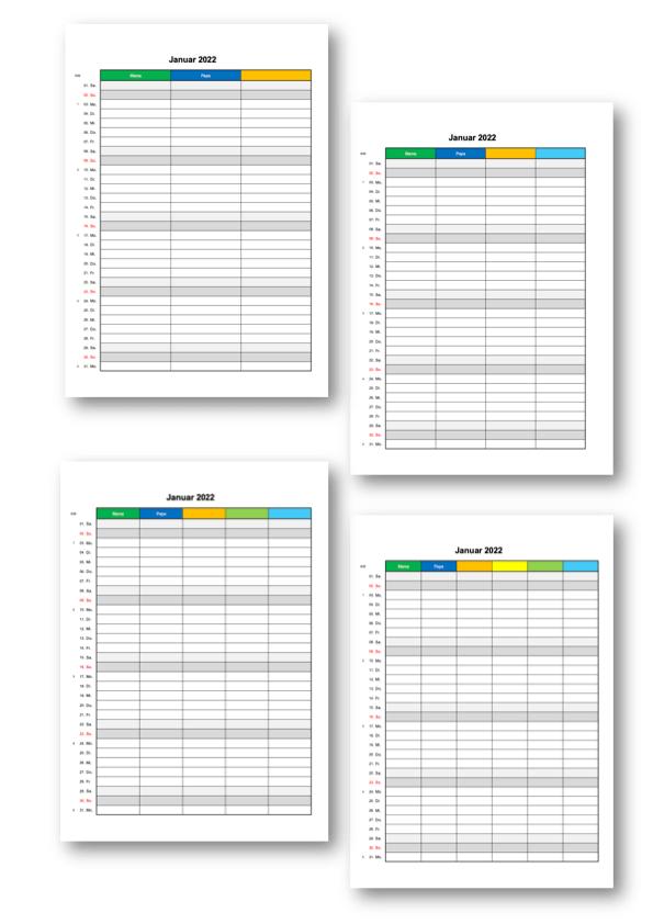 Familienkalender 2022 Familienplaner Header